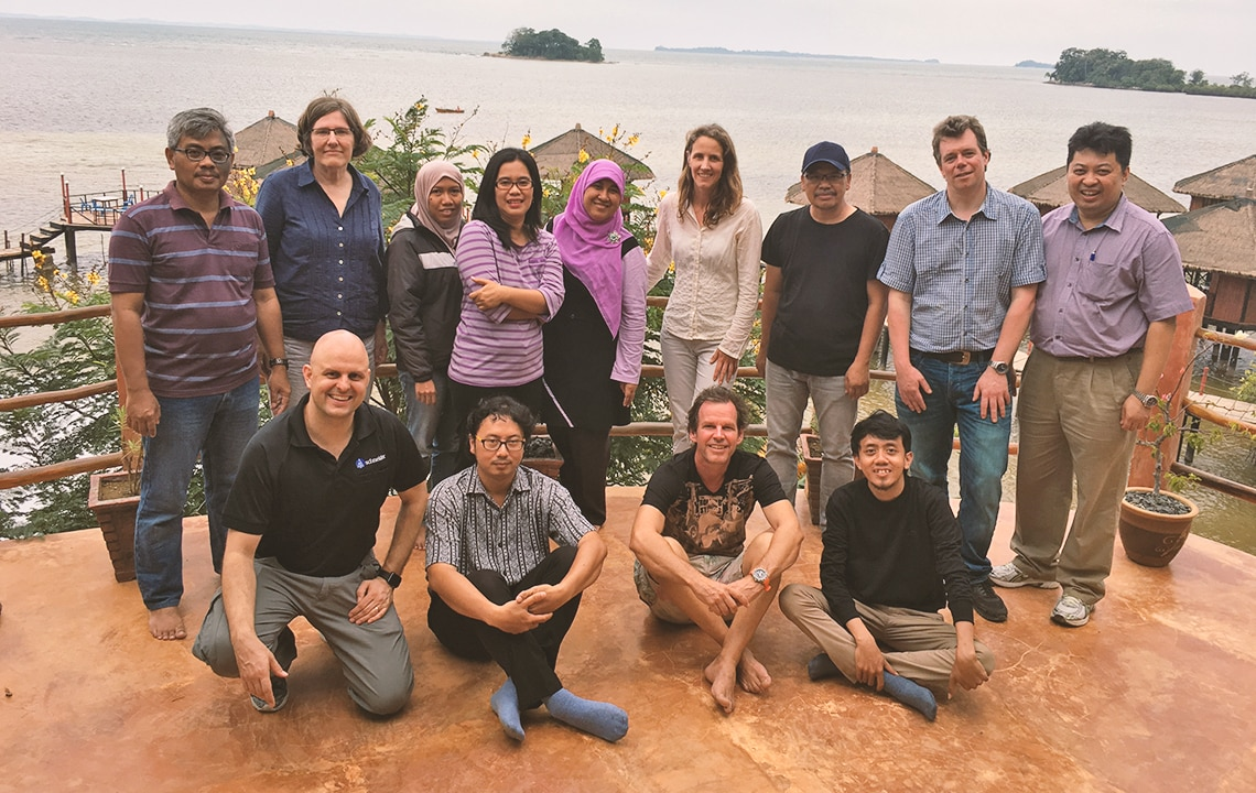 Some of our 40-member team in Bintan Island, Indonesia