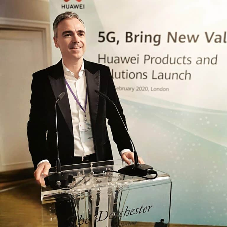 Mike Flache at the 5G Bring New Value event at the Dorchester, London