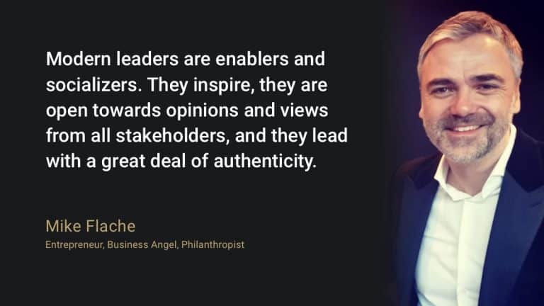 Modern leaders are enablers and socializers. They inspire, they are open towards opinions and views from all stakeholders, and they lead with a great deal of authenticity.