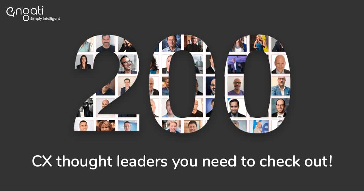 Engati presents 200 CX thought leaders you need to check out