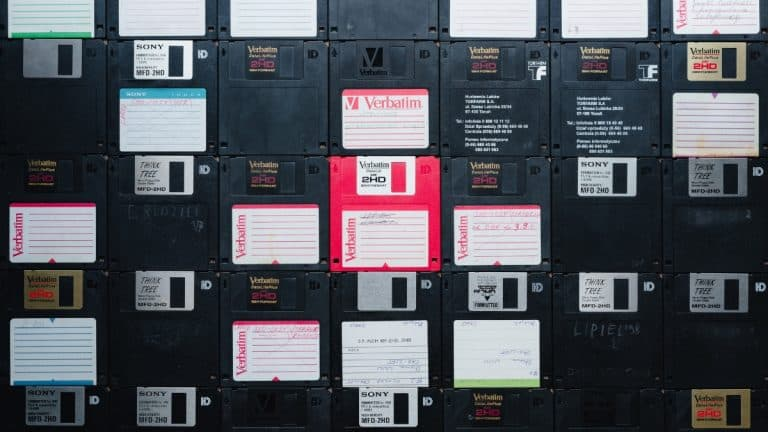 A selection of old Verbatim diskettes